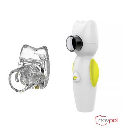 Inhalator siatkowy Air Angel żółty + Pojemnik nebulizacyjny Air Angel