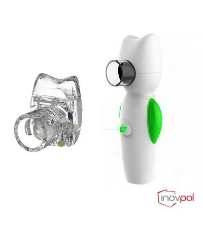 Inhalator siatkowy Air Angel  zielony+ Pojemnik nebulizacyjny Air Angel