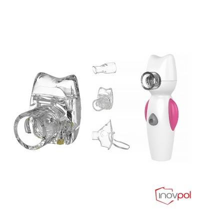 Inhalator siatkowy Air Angel różowy + Pojemnik nebulizacyjny Air Angel