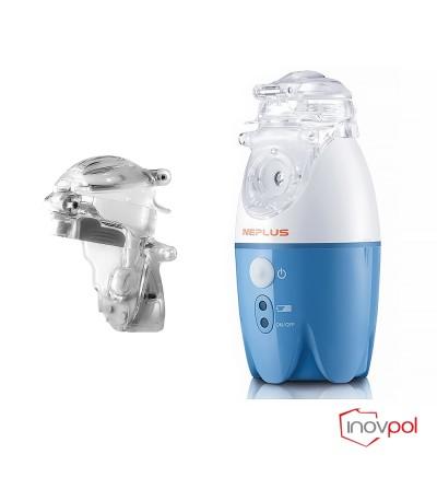 Inhalator siatkowy NEPLUS(NE-SM1) - niebieski + Pojemnik nebulizacyjny NEPLUS(NE-SM1)