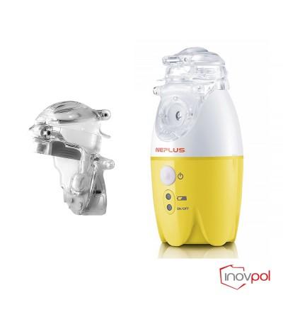 Inhalator siatkowy NEPLUS(NE-SM1) - żółty +Pojemnik nebulizacyjny NEPLUS(NE-SM1)
